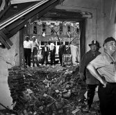 The rubble of the Sixteenth Street Baptist Church after the bombing.